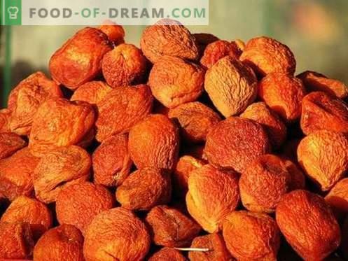 Abrikoos - beschrijving, nuttige eigenschappen, gebruik bij het koken. Recepten met gedroogde abrikozen.