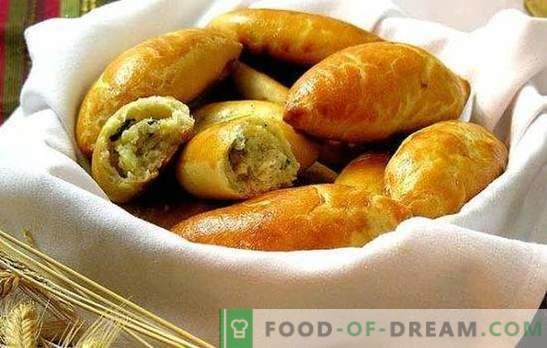 Pasteitjes met aardappelen in de oven -