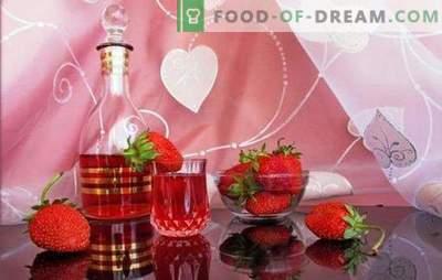 Hoe maak je zelfgemaakte aardbeienwijn? Romantische en geurige bessen in recepten met aardbeien, zelfgemaakte wijn