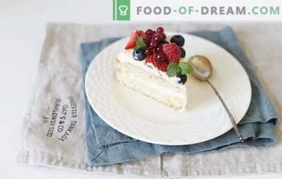 Koekjescake met banketbakkersroom - klassieke patisserie. De beste recepten voor biscuitgebak met custard