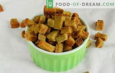 Crackers met knoflook - een geniale uitvinding van zuinige koks! Recepten ongeëvenaarde voorgerechten en gerechten uit oudbakken brood