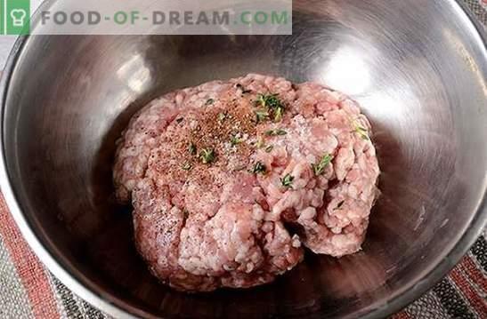 Pasteivleeskarbonades: zacht, sappig, met een knapperige korst. Het stapsgewijze foto-recept van de auteur voor gehaktkarbonades, gebakken in een pan in broodkruimels