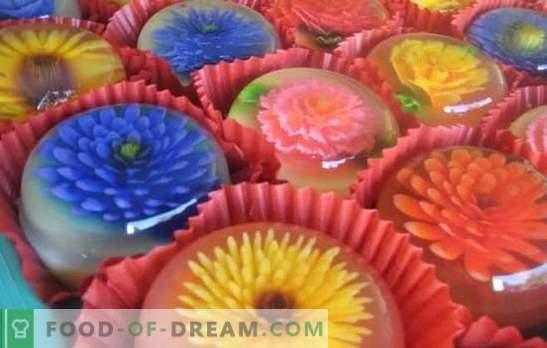 Heldere gelei is een kunstwerk! Bereidingswijze en recepten voor lichte desserts en hoofdgerechten van transparante gelei