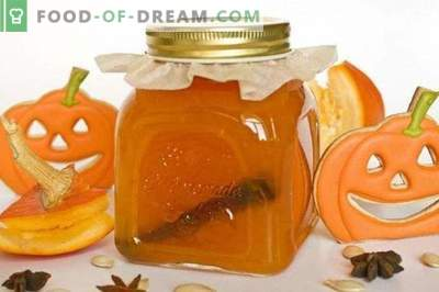 Pumpkin jam with sinaasappels