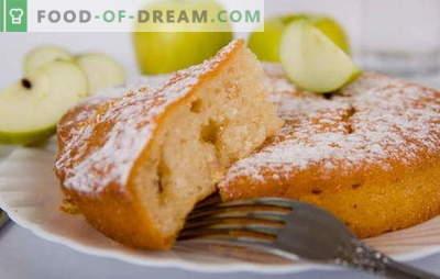 Mannik aux pommes - un gâteau d'une enfance insouciante! Recettes de Mannica avec des pommes: sur du yogourt, de la crème sure, du lait, de l'eau, avec du fromage cottage