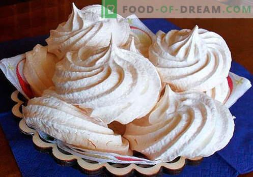 Meringue - de beste recepten. Hoe goed en lekker zelfgemaakte meringues koken.