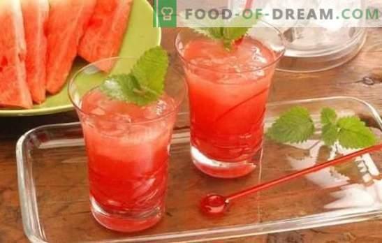 Watermeloencocktails - verfrissende drankjes voor feestjes en ontspanning. Recepten voor non-alcoholische en alcoholische watermeloencocktails