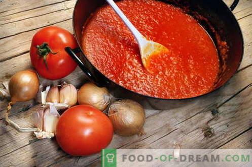 Tomatensaus - de beste recepten. Hoe tomatensaus goed te koken en te koken.