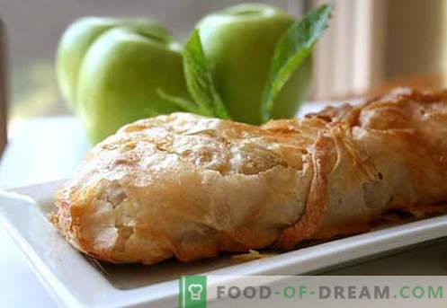 Apple-strudel - de beste recepten. Hoe goed en smakelijk kook strudel met appels.