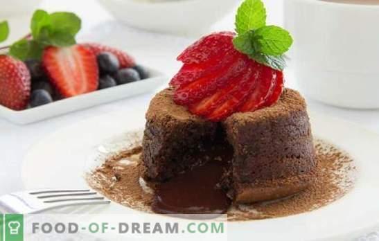 Chocolademunt: met dessert - het is gemakkelijk! Chocoladedessertrecepten voor alle gelegenheden: cheesecake, log, biscuit, souffle