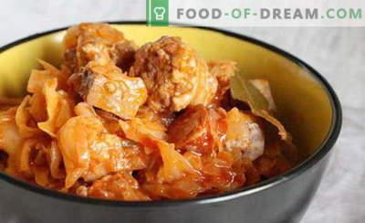 Cabbage solyanka - de beste recepten. Hoe goed en lekker koolsoep koken.