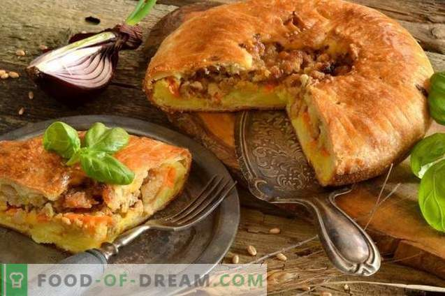 English pie with potatoes and meat