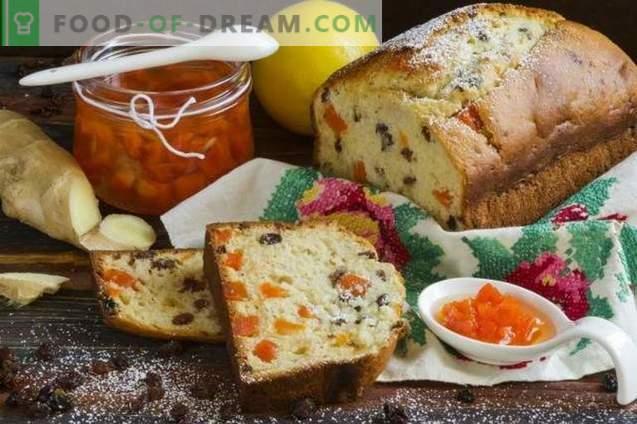 Gembercake met rozijnen en wortelstap