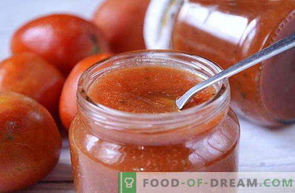 Een uniek recept voor natuurlijke zelfgemaakte ketchup - noteer om niet te vergeten