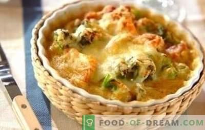 Kip met bloemkool in de oven is geweldig! Recepten gezonde en smakelijke kipgerechten met bloemkool in de oven