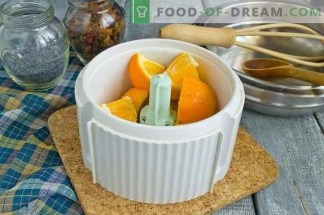 Oranje manna op kefir