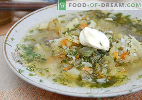 Leningrad rassolnik - de beste recepten. Hoe goed en smakelijk koken rassolnik Leningrad.