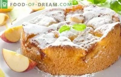 Stapsgewijze recepten van een charlotte - een smakelijk dessert in twintig minuten. Geheimen van het koken met charlotte met stapsgewijze fotorecepten