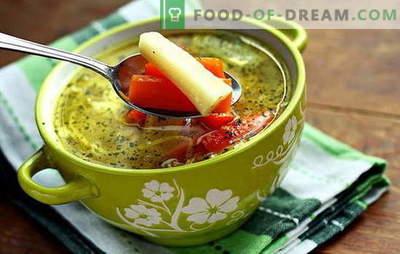 Magere groentesoep - voor vegetariërs en vasten. Recepten voor het koken van magere groentesoep
