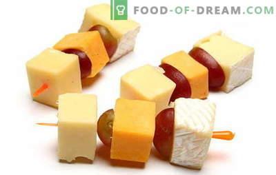 Canapes met kaas - een onberispelijke snack voor elke gelegenheid. De beste recepten voor canapes met kaas: eenvoudig en ongebruikelijk