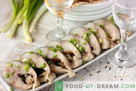 Gezouten makreel - de beste recepten. Hoe makreel thuis te picken.