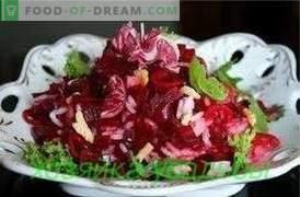 Saladas de beterraba, receitas simples.