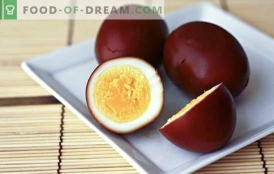 Gerookte eieren - de originele snack van een eenvoudig product. Gerookte eieren thuis en recepten met hen