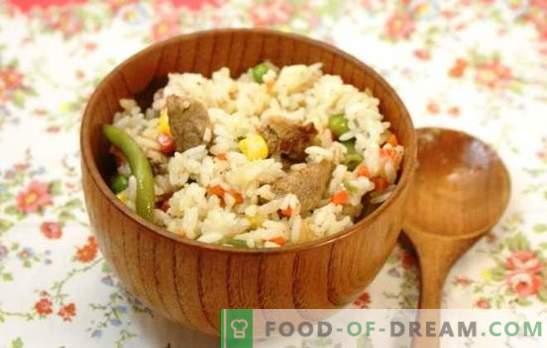 Rijst met vlees in een slowcooker: van pilaf tot paella. Recepten van populaire rijstgerechten met vlees in een slowcooker: eenvoudig en origineel