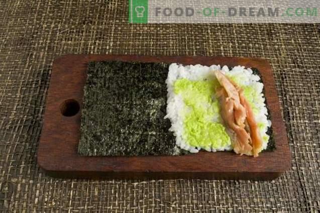 Temaki-sushi met avocado en forel