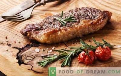 Biefstuk in de oven - voor echte vleesliefhebbers. Een heerlijke en sappige biefstuk koken in de oven