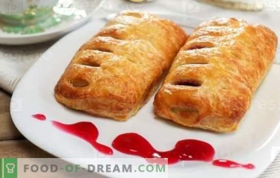 Muffins met jam - zoete gebakjes voor thee! Recepten broodjes met jam van gist, ongezuurde, bladerdeeg en kwarkdeeg