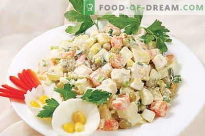 Salade Capital - les meilleures recettes. Comment cuisiner correctement et délicieusement la salade Capital.