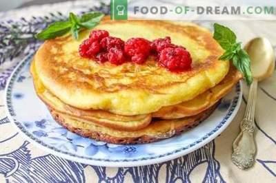 Amerikaanse pannenkoeken - smakelijk, bevredigend en zeer zuinig!