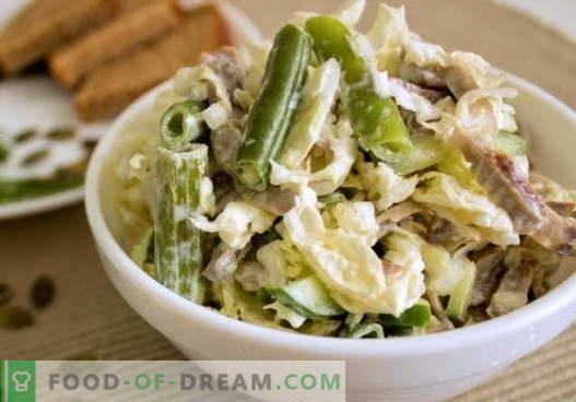 Chicken stomach salad - een selectie van de beste recepten. Hoe je op een goede en heerlijke manier een salade kunt bereiden met kippenspinters.