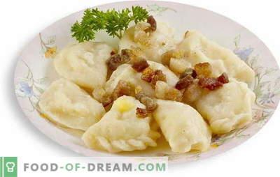 Lenten knoedels met aardappelen is een geweldige kans om de familie smakelijk en bevredigend te voeden. Recept voor lenten knoedels met aardappelen