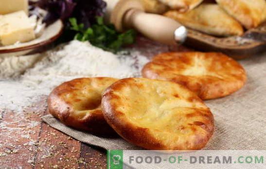 Khachapuri op kefir in de oven en in de pan. Hoe kook je khachapuri met kaas op kefir: opties voor toppings