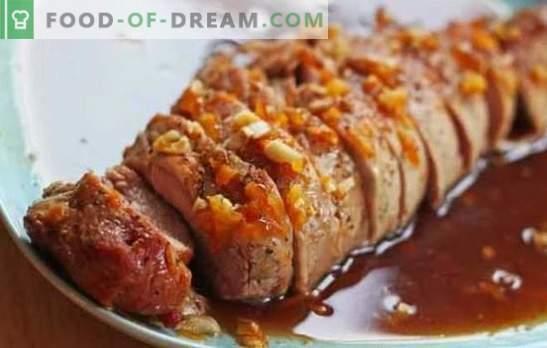 Varkensvlees in honingsaus is een heerlijk gerecht. Hoe varkensvlees bereiden met honing, honingmosterd en honing-sinaasappel saus