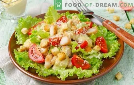 Caesarsalade met mayonaise: van eenvoudige tot exquise recepten. Een heerlijke Caesar-salade bereiden met mayonaise