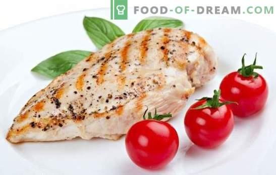 Dieetborst - een favoriet product van atleten en afvallen. Een selectie van recepten voor slank figuur op borstvoeding