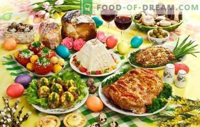Gerechten voor Pasen - we zetten de tafel voor de belangrijkste feestdag van het jaar. Een selectie van de beste recepten voor Pasen: salades, warme, desserts