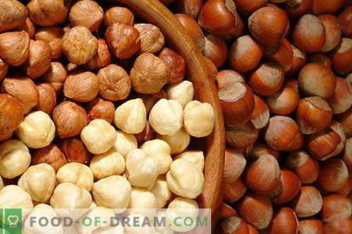 Hazelnoten - nuttige eigenschappen en gebruik bij het koken. Recepten met hazelnoten.