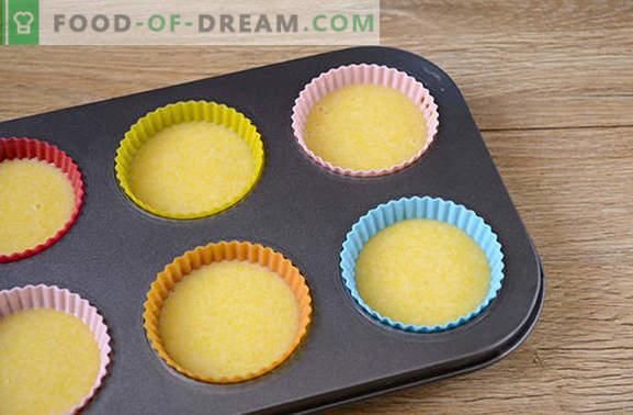 Maïsmeelmuffins: elegant zonnig dessert! Stapsrecept voor snelle maïsmuffins (met foto)