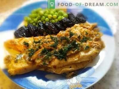 Foto-recept voor het bereiden van vlees (filet) in room. Heerlijke kipfilet in roomsaus in 25 minuten: een stap voor stap recept