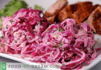 Rode koolsalade - de beste recepten. Hoe goed en smakelijk een salade van rode kool te bereiden.