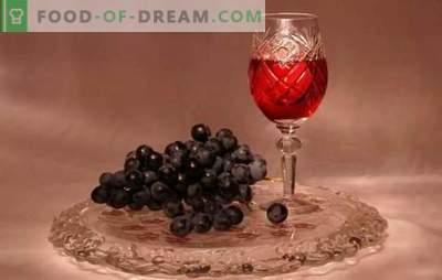 Tinctuur van druiven thuis is geen wijn! Recepten geurige en heldere tinctuur van druiven thuis