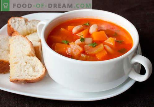 Plantaardige bouillon soep - de beste recepten. Hoe goed en lekker soep koken in plantaardige bouillon.