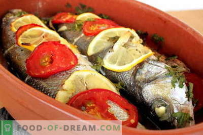 Gebakken vis in de oven - de beste recepten. Hoe vis in de oven te koken.