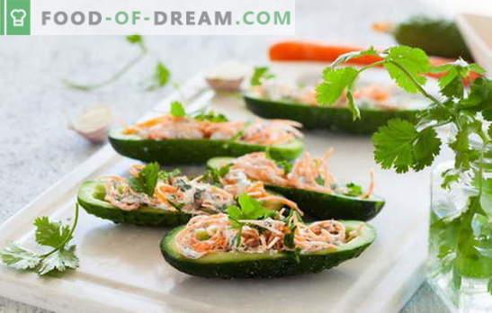 Salade met Koreaanse wortel en komkommer: pittige delicatesse. De beste recepten van de populaire Koreaanse salade van wortel en komkommer