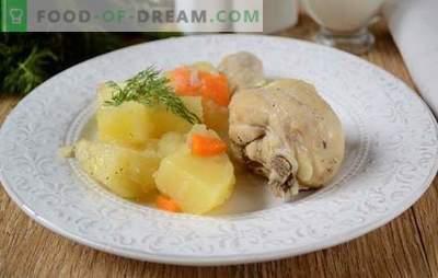 Kaip gesinti bulves su vištiena lėtoje viryklėje: puiki vakarienė per pusvalandį! Laipsniškas vištienos troškinys su bulvėmis lėtai viryklėje