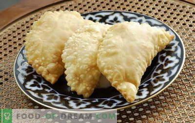 Chebureks met vlees thuis - eenvoudig! Verschillende recepten voor vleeschebureks thuis: gewoon en lui